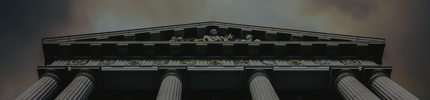 Ancient roman courthouse header background